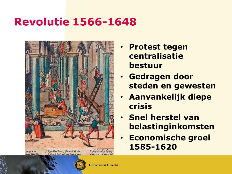 Revolutie 1566-1648 Protest tegen centralisatie bestuur