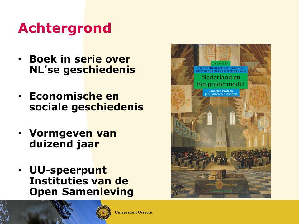 Achtergrond Boek in serie over NL'se geschiedenis