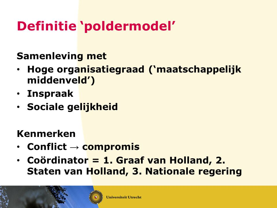 Definitie 'poldermodel'