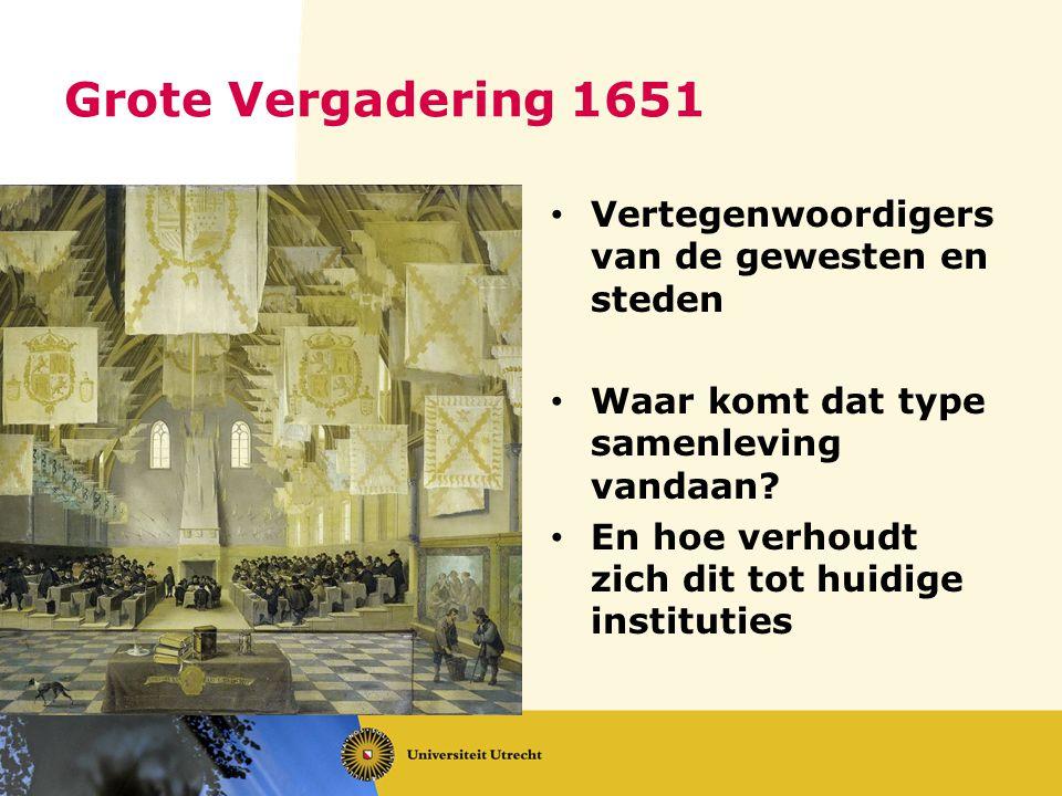 Grote Vergadering 1651 Vertegenwoordigers van de gewesten en steden
