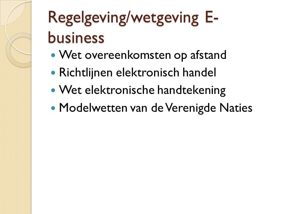 Regelgeving/wetgeving E-business