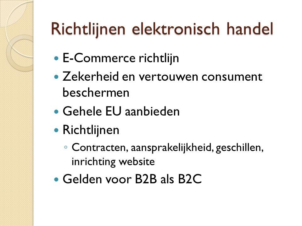 Richtlijnen elektronisch handel