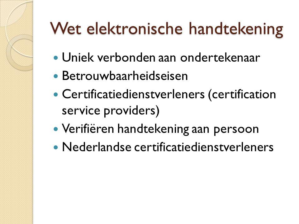 Wet elektronische handtekening