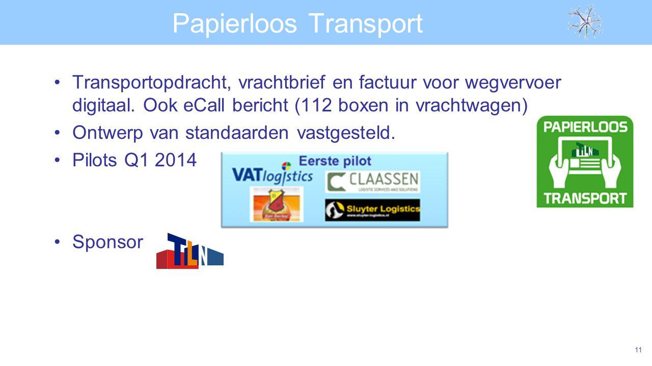 Papierloos Transport Transportopdracht, vrachtbrief en factuur voor wegvervoer digitaal. Ook eCall bericht (112 boxen in vrachtwagen)