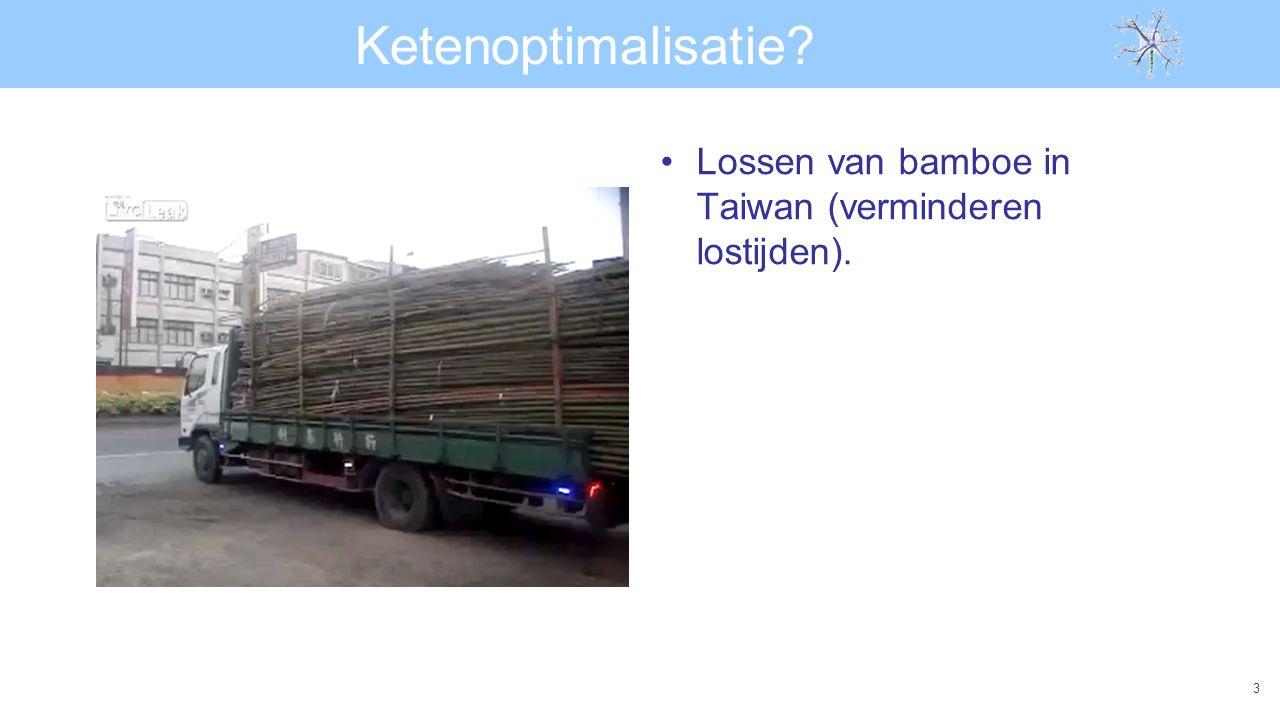 Ketenoptimalisatie Lossen van bamboe in Taiwan (verminderen lostijden).