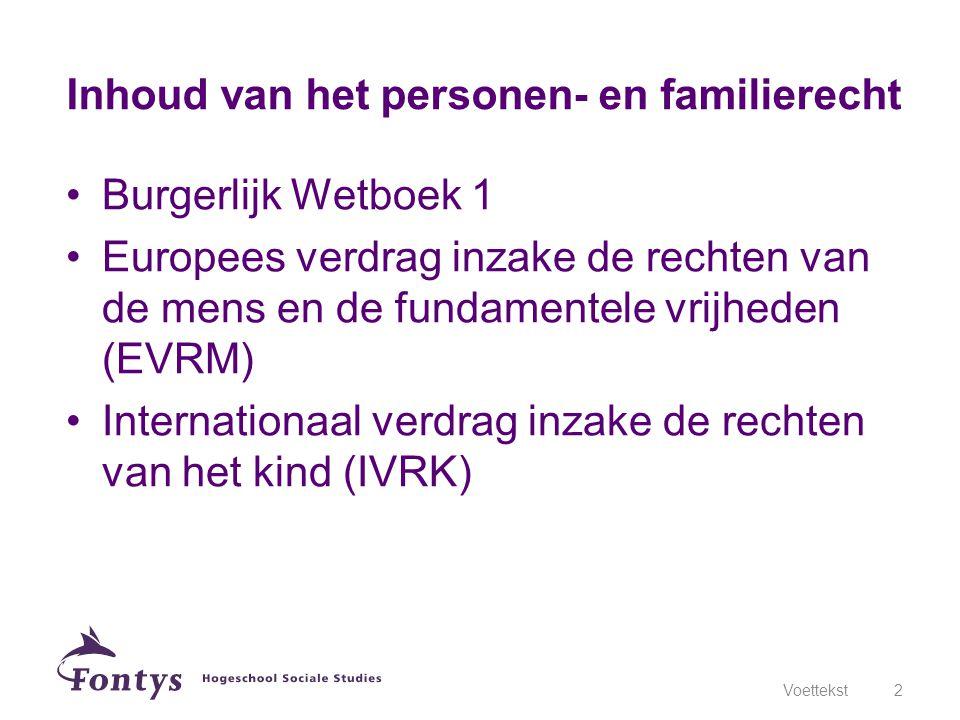 Inhoud van het personen- en familierecht