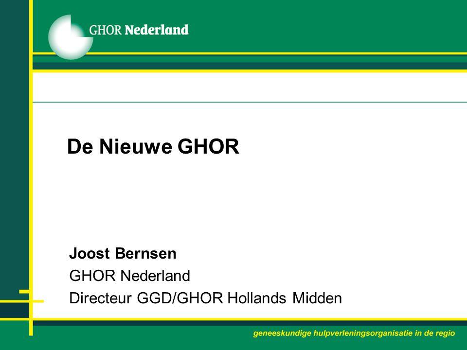 Joost Bernsen GHOR Nederland Directeur GGD/GHOR Hollands Midden