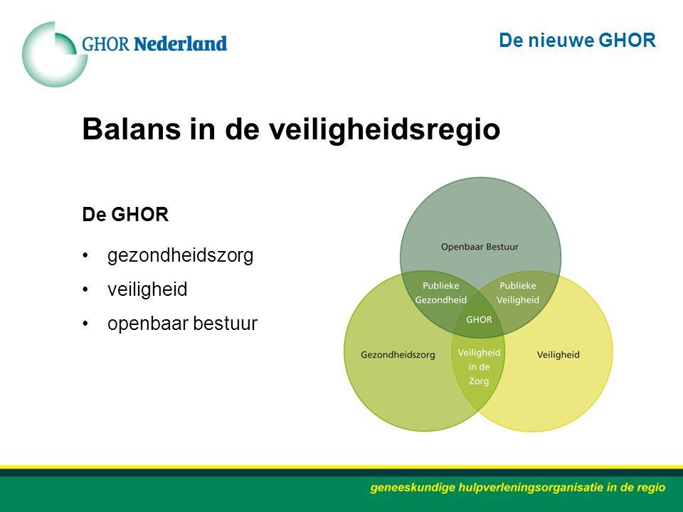Balans in de veiligheidsregio