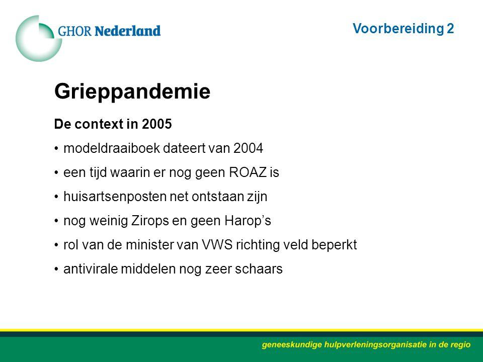 Grieppandemie Voorbereiding 2 De context in 2005