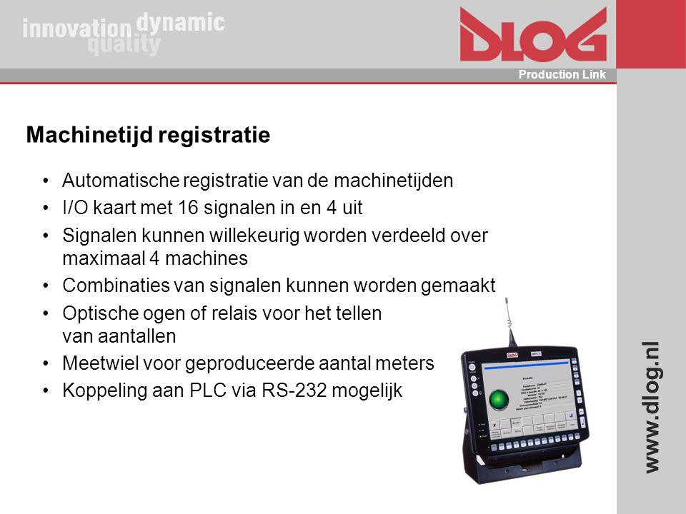 Machinetijd registratie