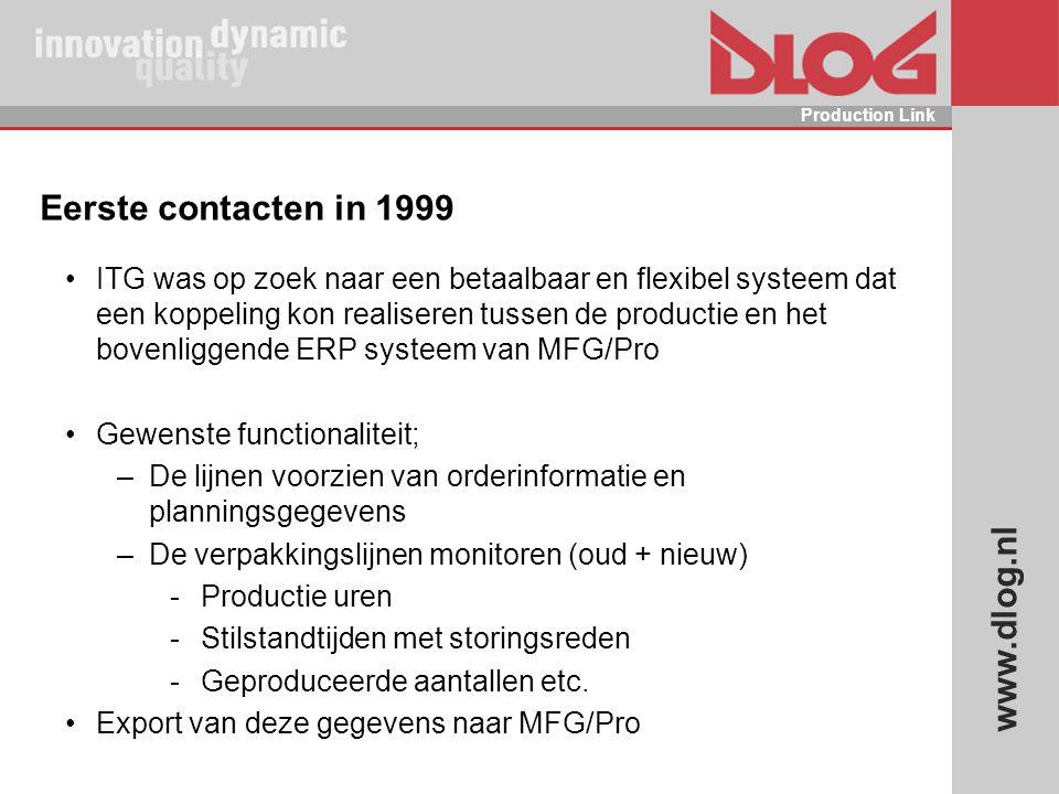 Eerste contacten in 1999