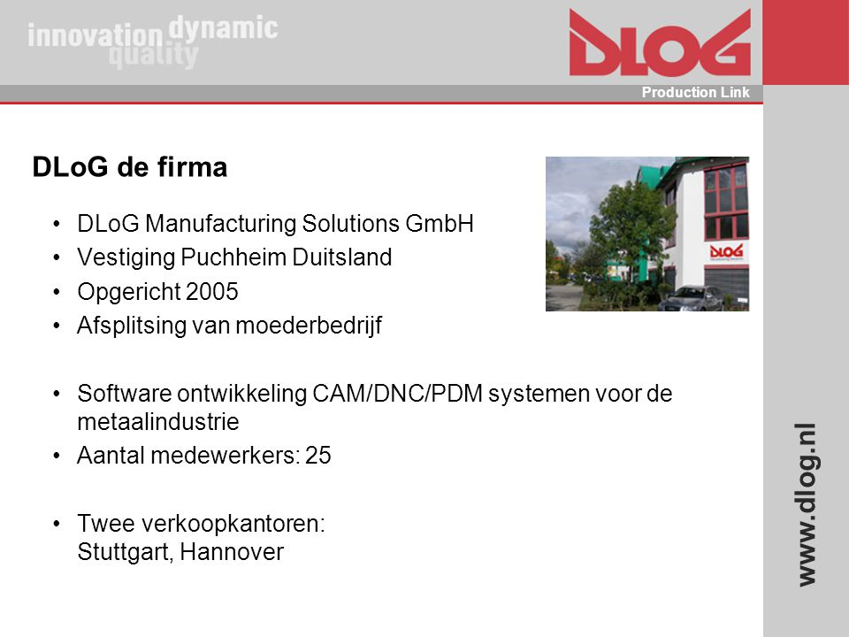 DLoG de firma DLoG Manufacturing Solutions GmbH