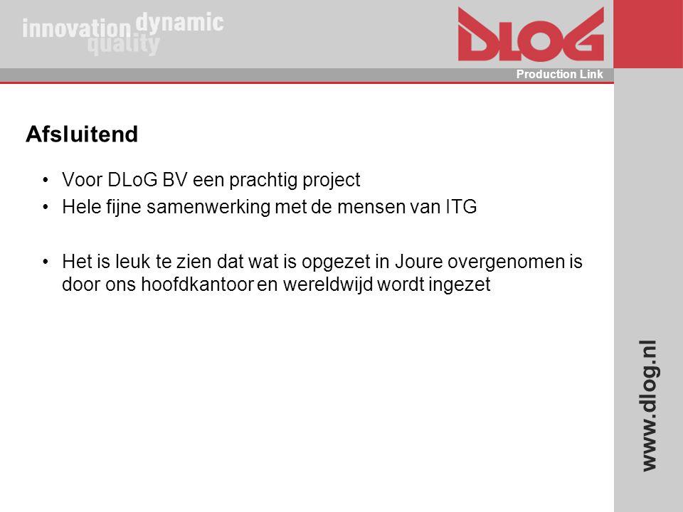Afsluitend Voor DLoG BV een prachtig project