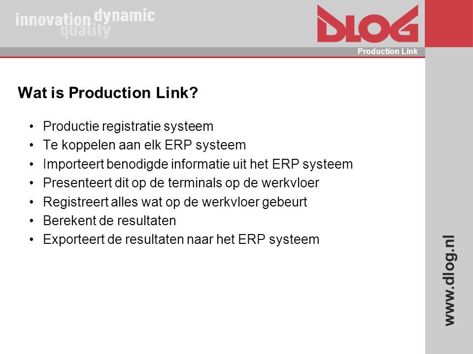 Wat is Production Link Productie registratie systeem