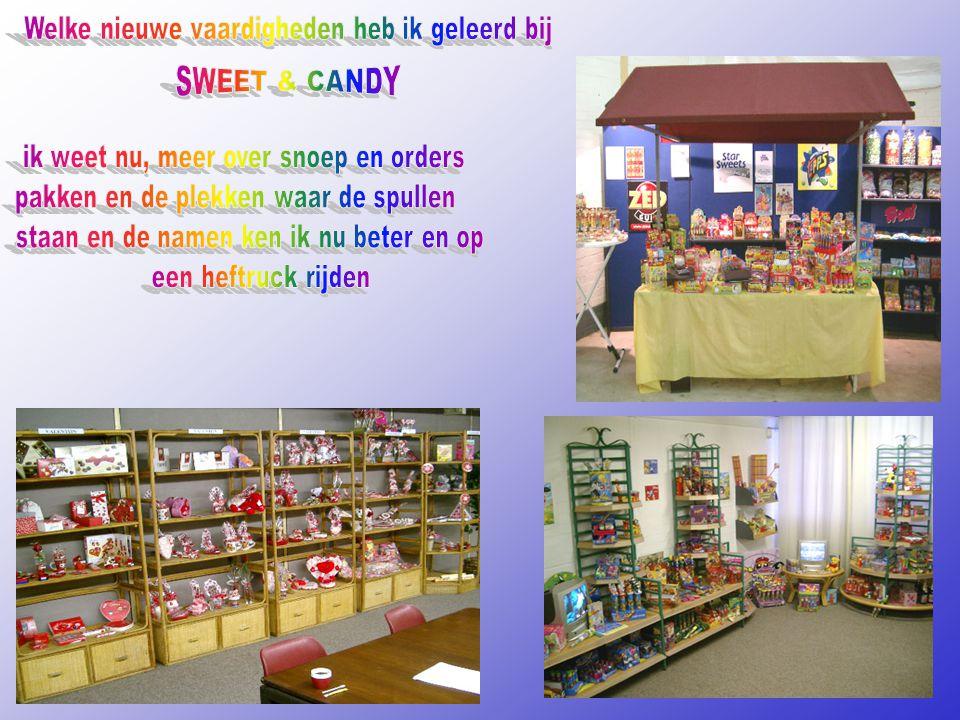 SWEET & CANDY Welke nieuwe vaardigheden heb ik geleerd bij