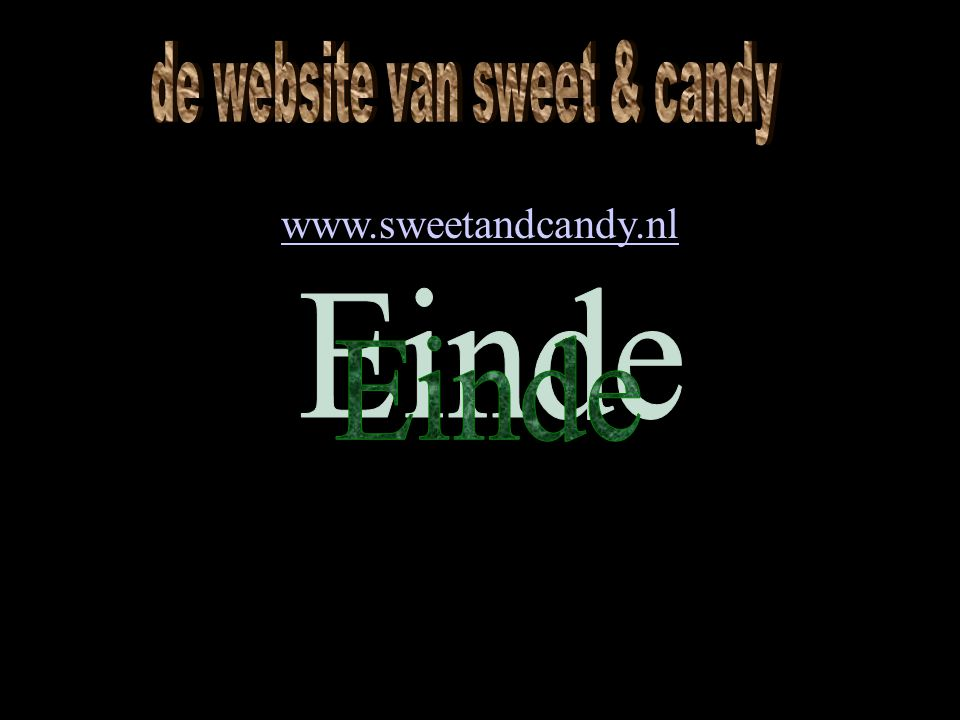 de website van sweet & candy