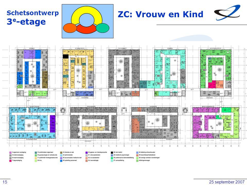 Schetsontwerp 3e-etage ZC: Vrouw en Kind 25 september 2007
