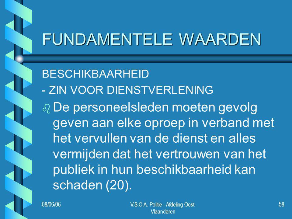 V.S.O.A. Politie - Afdeling Oost-Vlaanderen