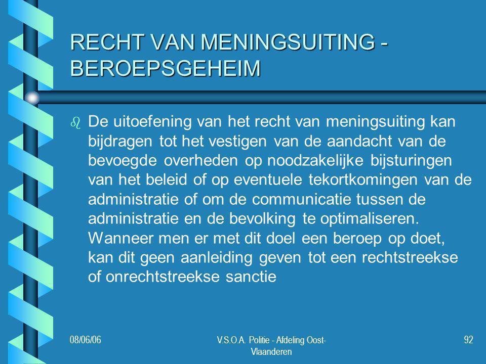 RECHT VAN MENINGSUITING - BEROEPSGEHEIM