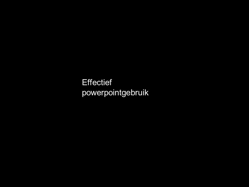 Effectief powerpointgebruik