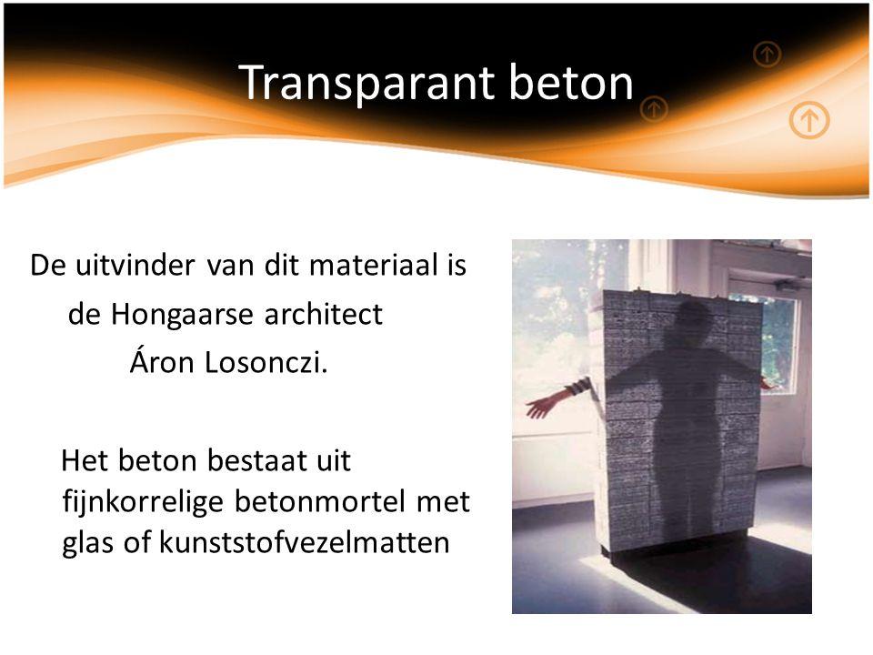 Transparant beton