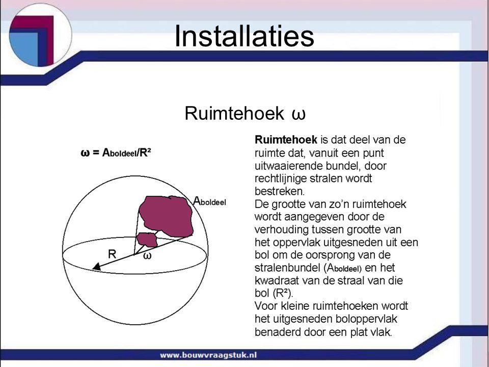 Installaties Ruimtehoek ω