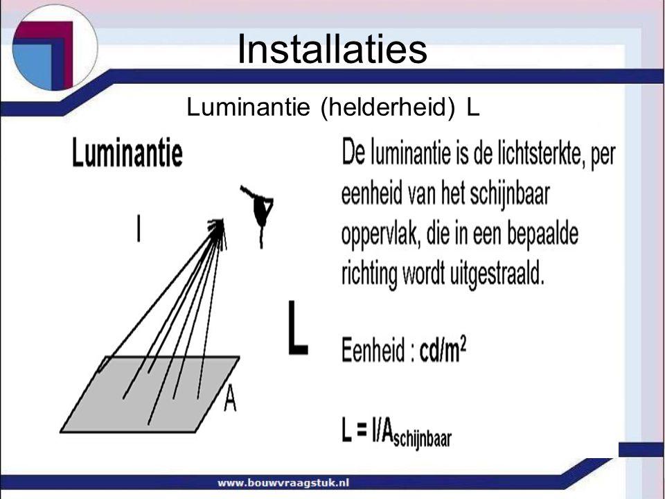 Luminantie (helderheid) L