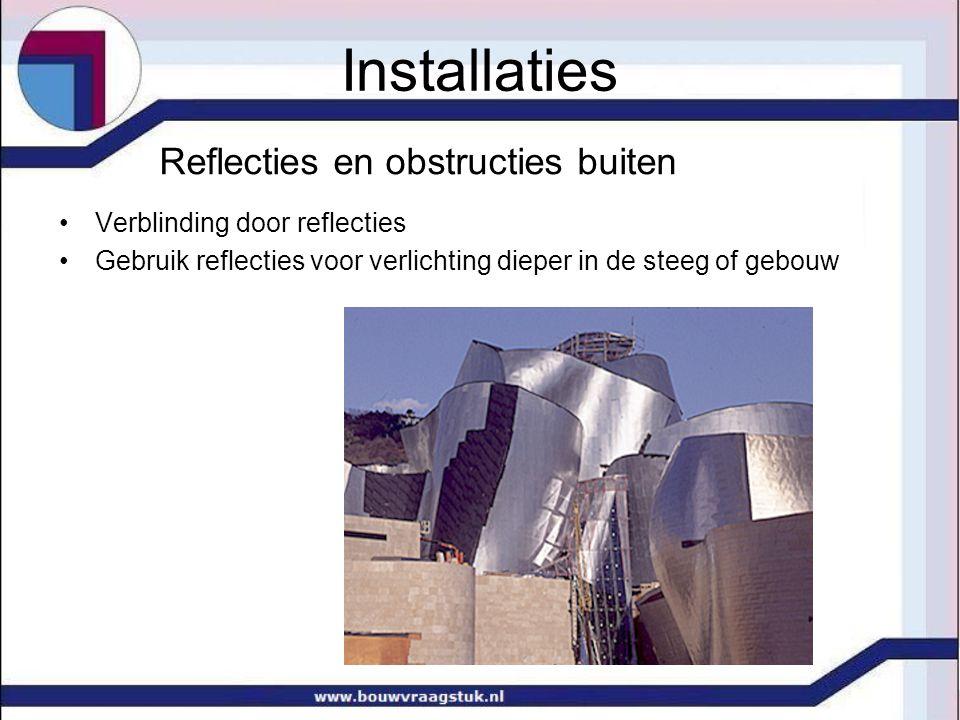 Reflecties en obstructies buiten