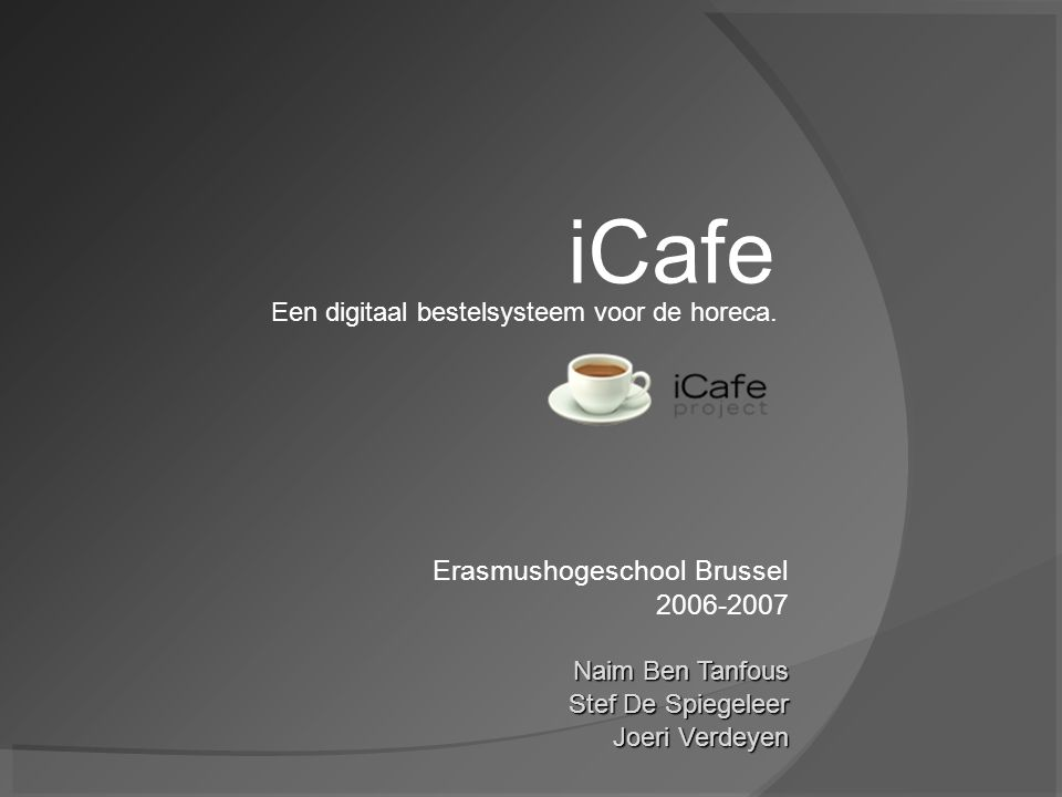 iCafe Erasmushogeschool Brussel 2006-2007