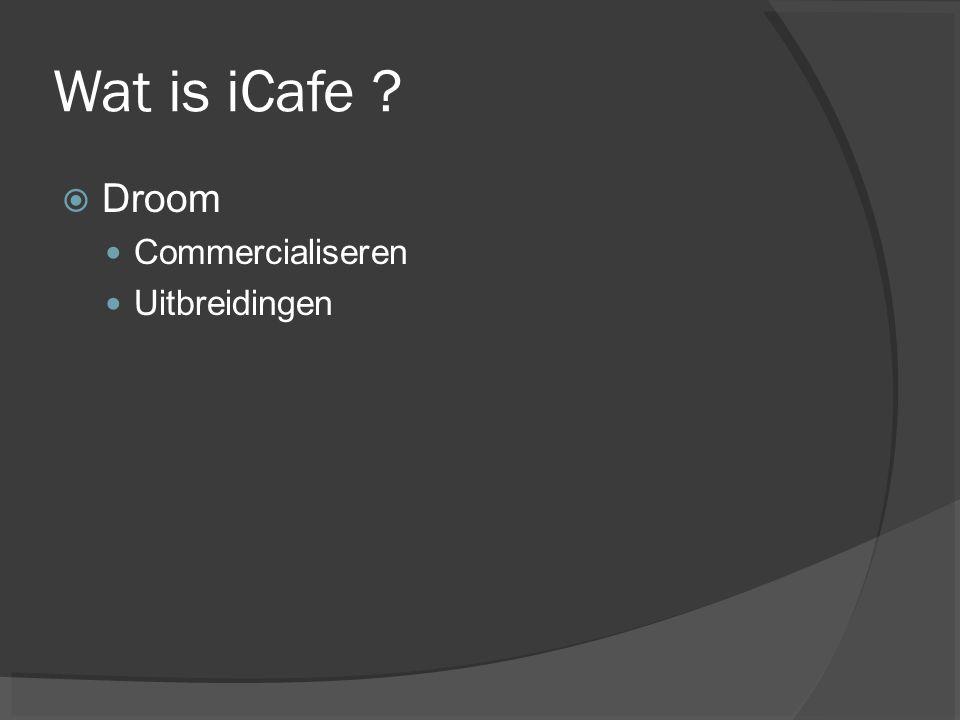 Wat is iCafe Droom Commercialiseren Uitbreidingen // ste