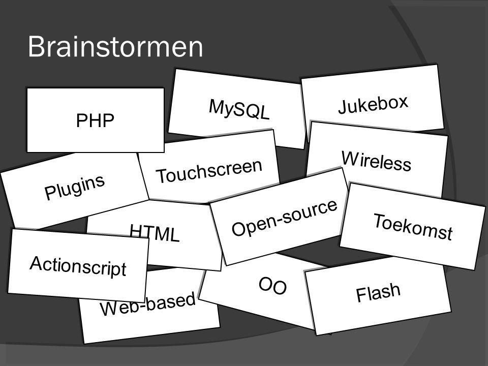 Brainstormen Jukebox MySQL PHP Wireless Touchscreen Plugins