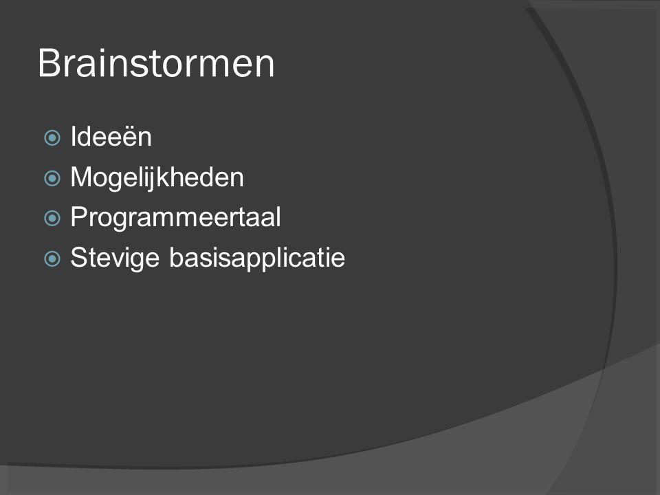 Brainstormen Ideeën Mogelijkheden Programmeertaal