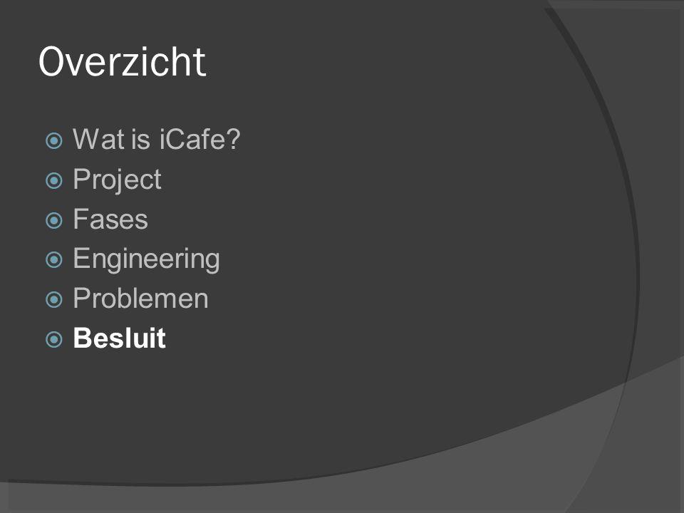 Overzicht Wat is iCafe Project Fases Engineering Problemen Besluit