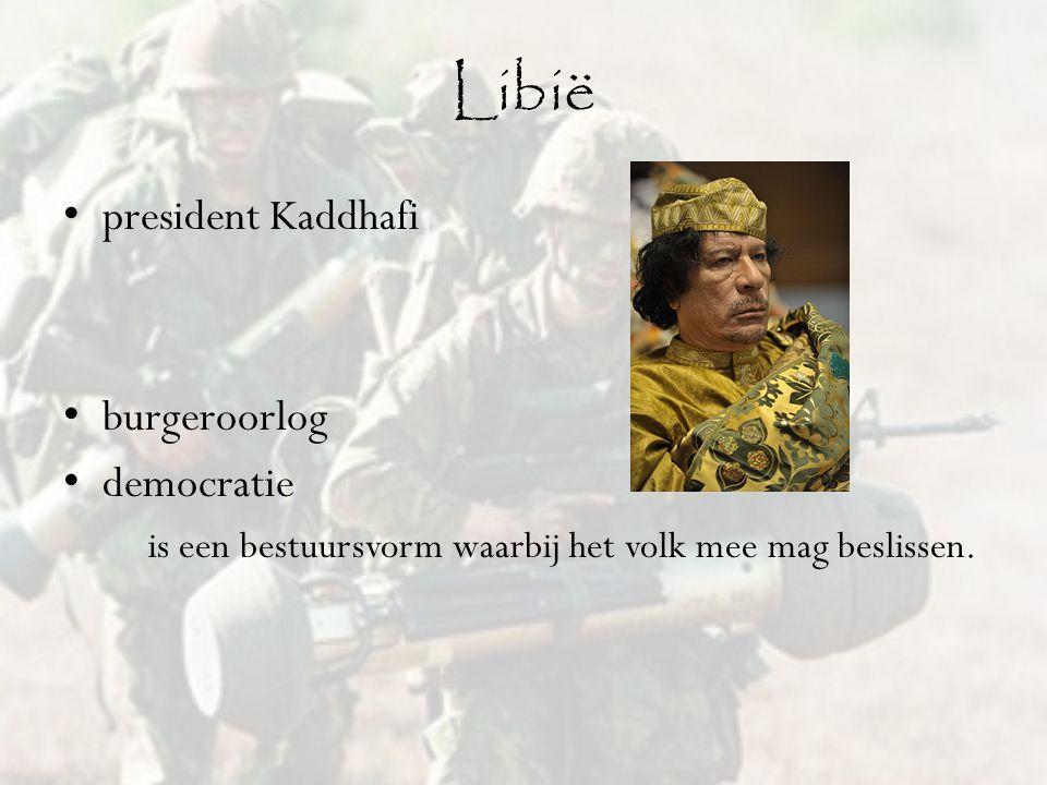 Libië president Kaddhafi burgeroorlog democratie