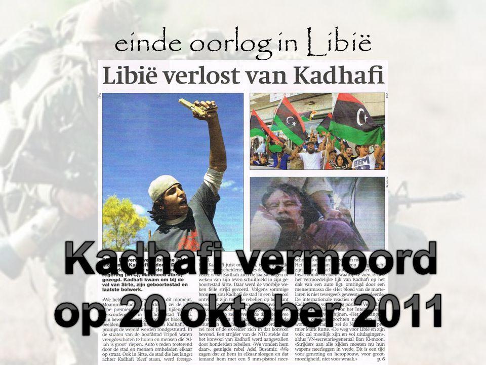 Kadhafi vermoord op 20 oktober 2011