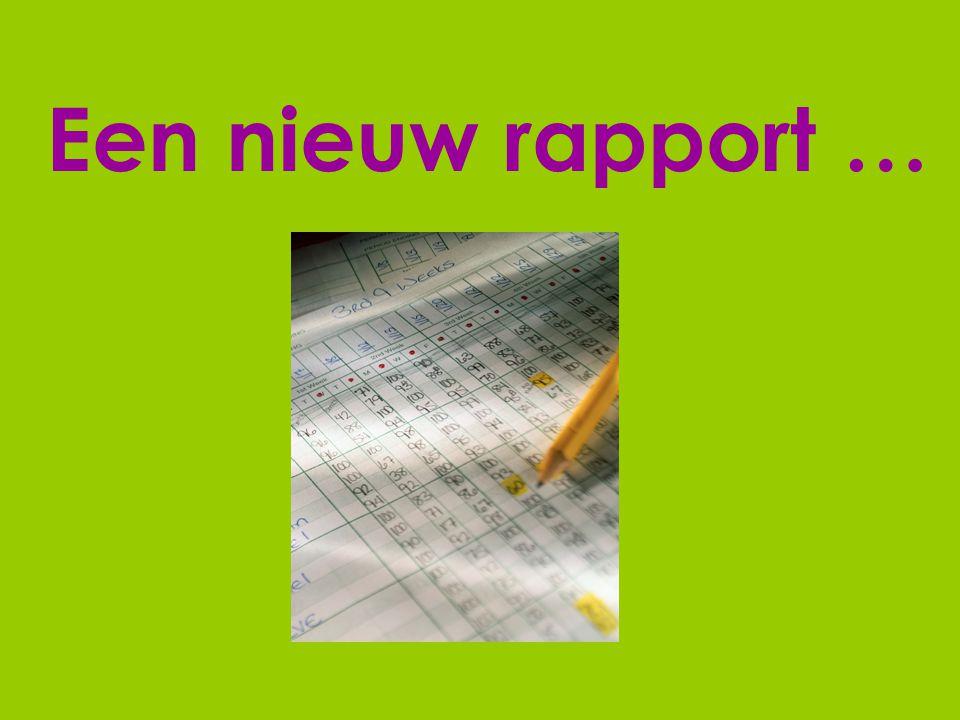 Een nieuw rapport …
