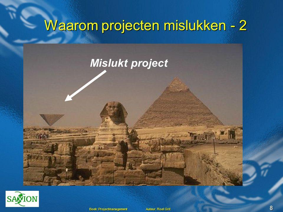 Waarom projecten mislukken - 2