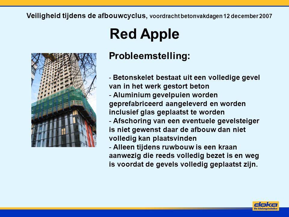 Red Apple Probleemstelling: