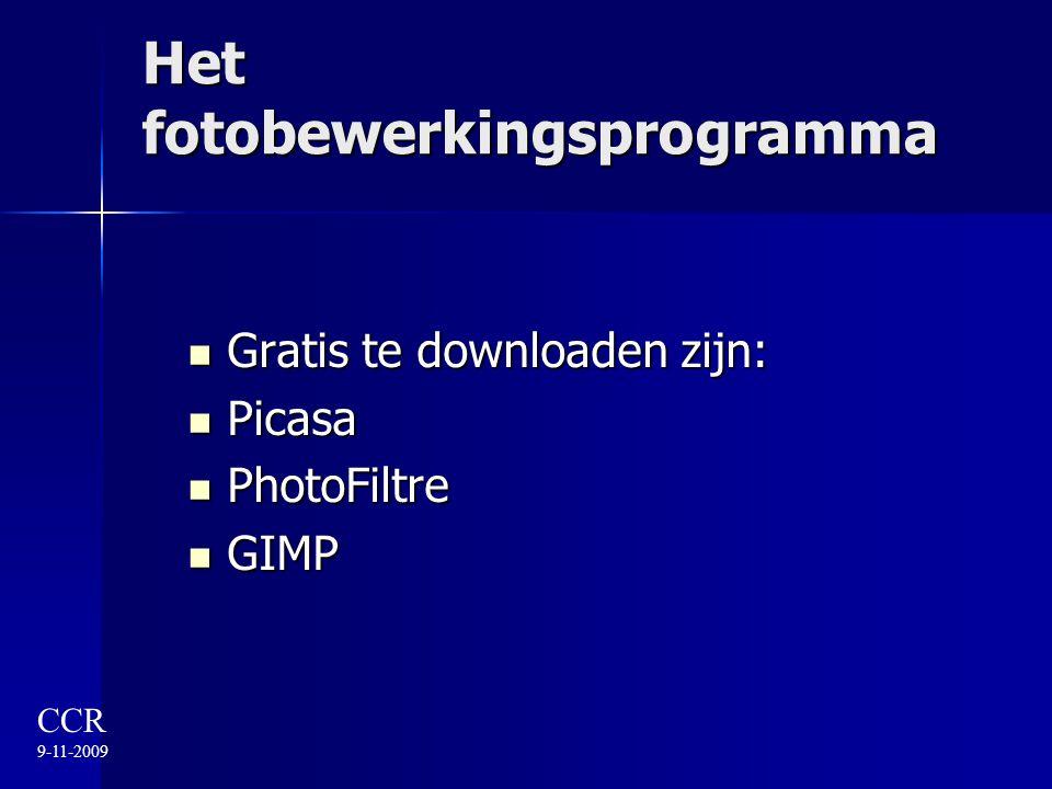 Het fotobewerkingsprogramma