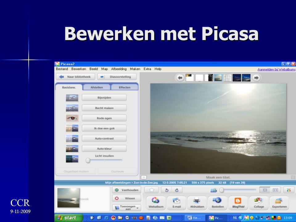 Bewerken met Picasa CCR 9-11-2009
