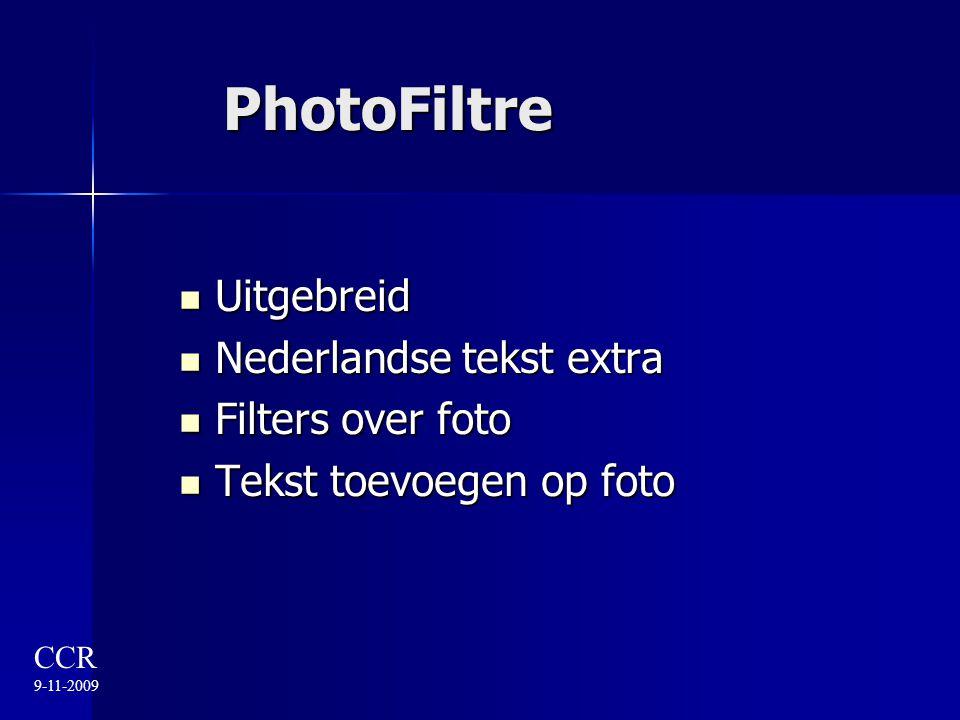 PhotoFiltre Uitgebreid Nederlandse tekst extra Filters over foto