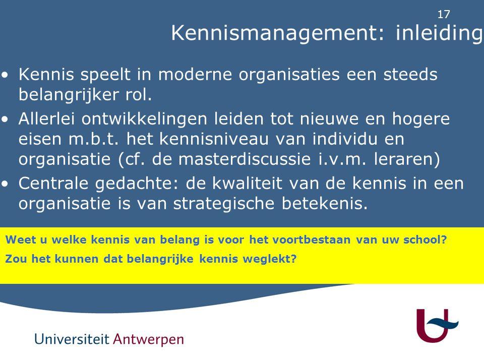 Kennismanagement: inleiding