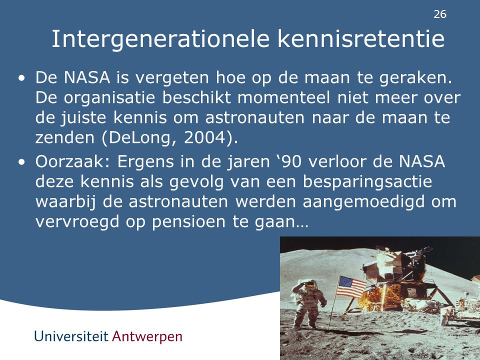 Intergenerationele kennisretentie