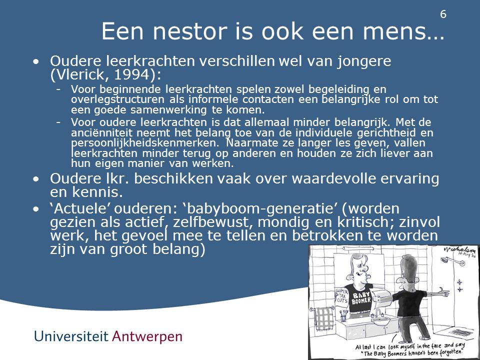 Een nestor is ook een mens…