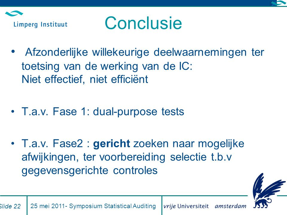 25 mei Symposium Statistical Auditing
