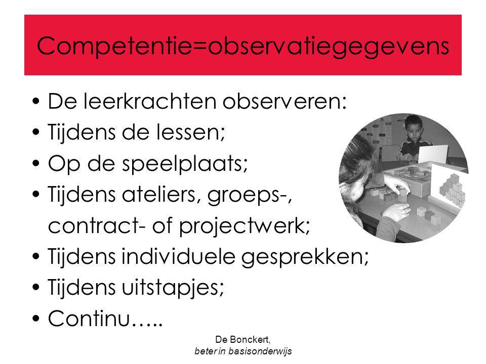 Competentie=observatiegegevens