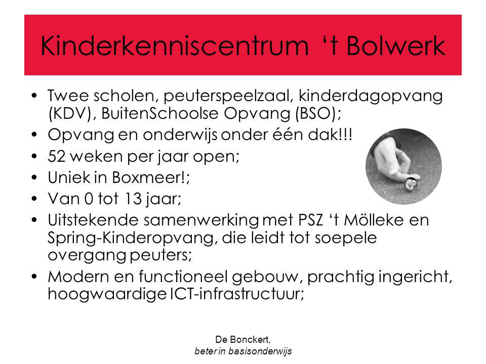 Kinderkenniscentrum 't Bolwerk