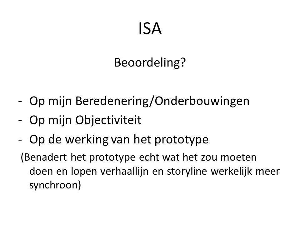 ISA Beoordeling Op mijn Beredenering/Onderbouwingen