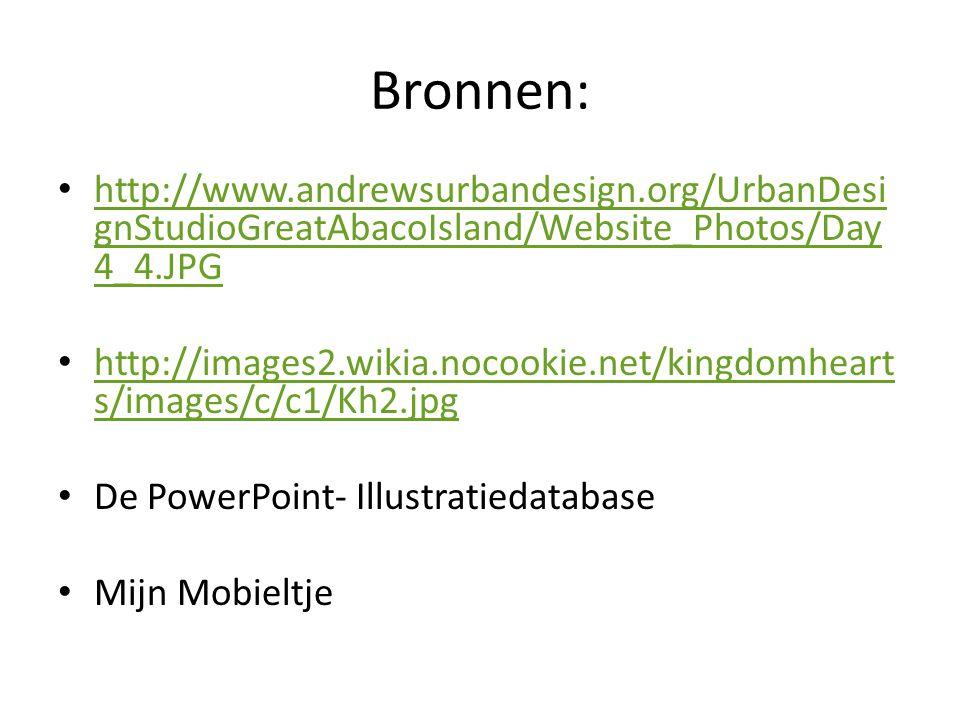 Bronnen: http://www.andrewsurbandesign.org/UrbanDesignStudioGreatAbacoIsland/Website_Photos/Day4_4.JPG.