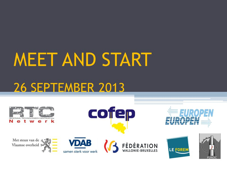 MEET AND START 26 SEPTEMBER 2013